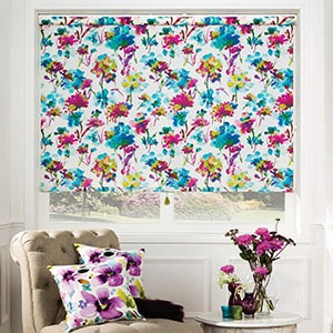 purple flower roller blinds brisbane