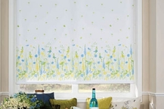 speckled blue yellow roller blind brisbane