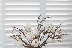 flowers plantation shutters