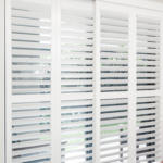 clean plantation shutters